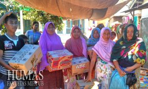 Lombok earthquake, alumni of FMIPA distributed more tens of millions rupiah to victims