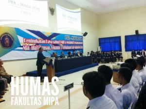 The Dean of FMIPA officially opened the PKKMABA Bachelor Program