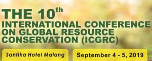 ICGRC International Conference on Global Resource Conservation 2019